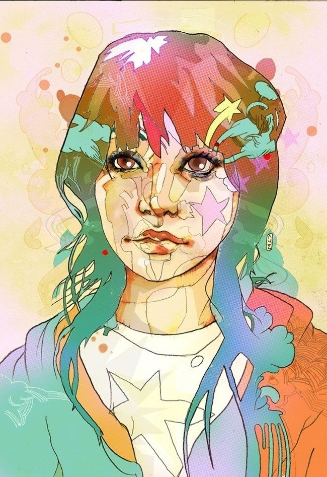 christian ward digital portrait of girl art illustration design feminine woman
