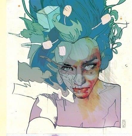 christian ward girl woman portrait illustration design digital painting feminine pretty