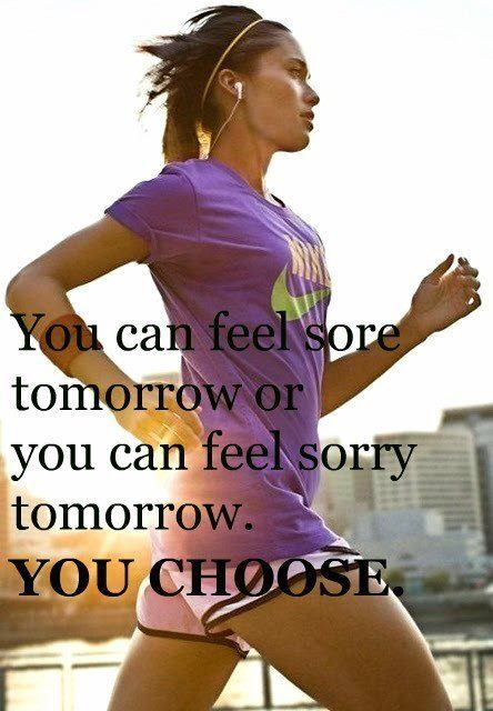 feel sore or sorry you choose fitness life exercise inspiration motivation work out runnign gym body