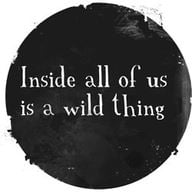 inside all of us is a wild thing inspiration movtivation quote life advice fun cute