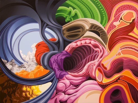 james roper abtrasct painting fine art acrylic design color shape movement organic