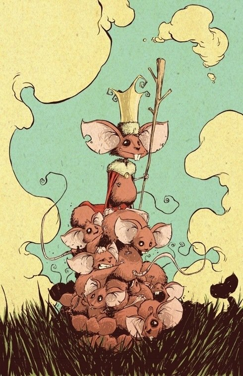 skottie young fantasy art illustration of the mouse king
