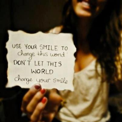 smile change the world inspiration motivation image picture quote life