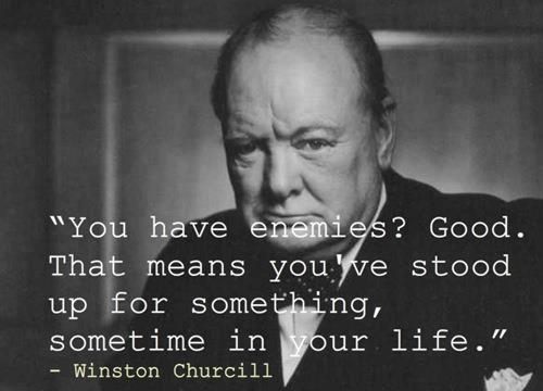 winston churchill quote inspiration stand up for something motivation hope picture image