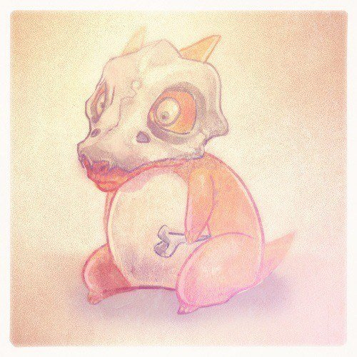 A pokemon style creature design by artist and illustrator Mike Puncekar