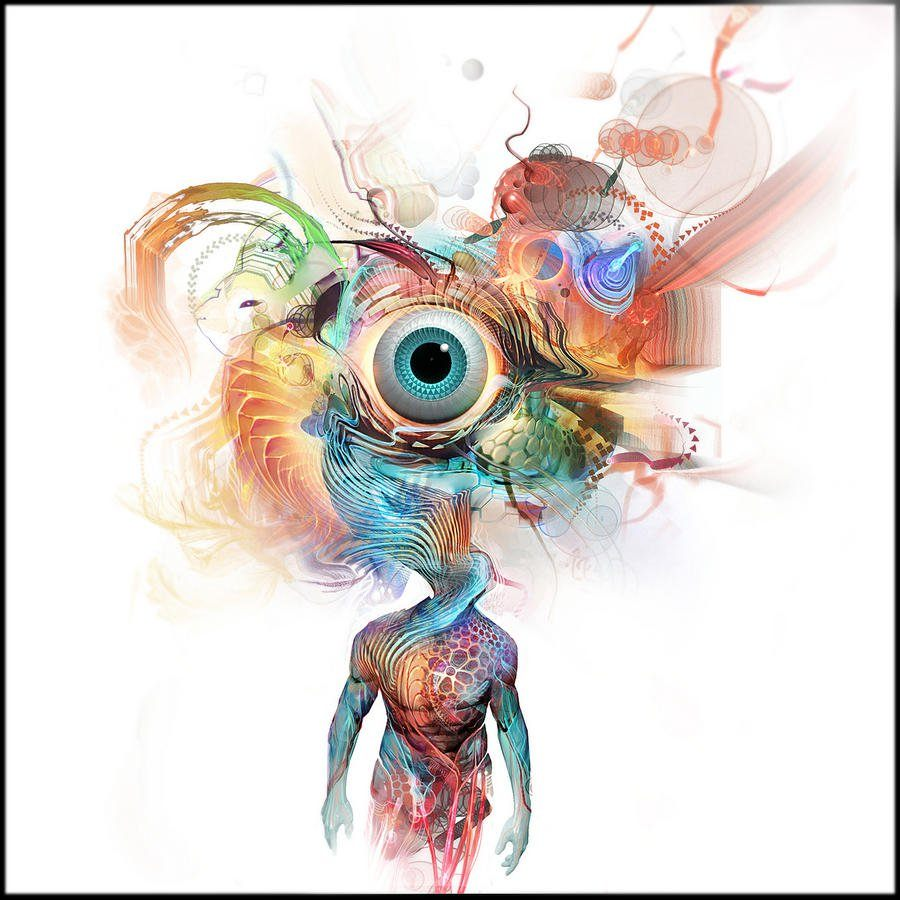 A psychedelic and surreal Photoshop painting by digital artist Andy ...
