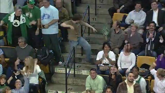 Celtics fan Jeremy Fry became an internet sensation when he got up and danced in the crowd at a basketball game