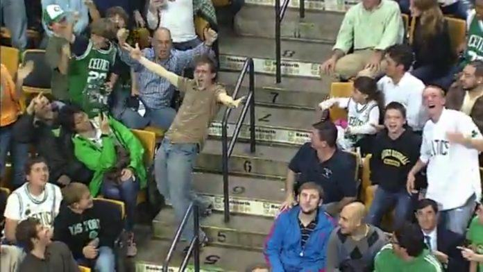 This Celtics fan got up and danced to his favorite Bon Jovi track, injecting his energy into the crowd and getting other sports fans involved