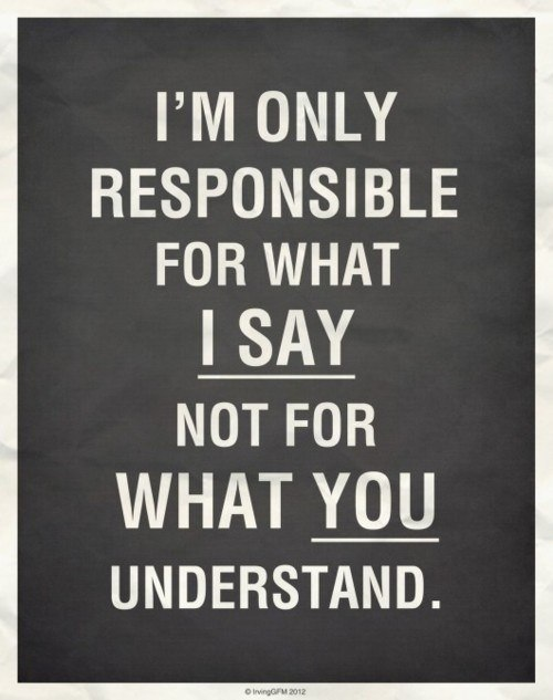 An inspirational picture quote about responsibility for things that have been said