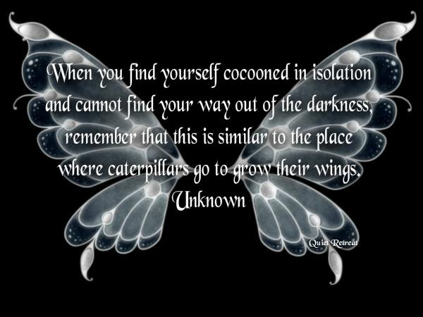 inspirational picture quote image butterfly cocoon change life advice personal strength
