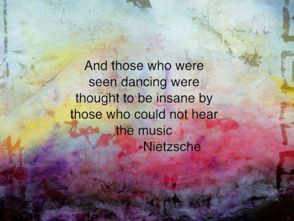 An inspirational picture quote by Nietzsche about the beauty of life