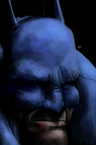 A Mike Miller iPhone painting of Batman using the iPhone art app Brushes