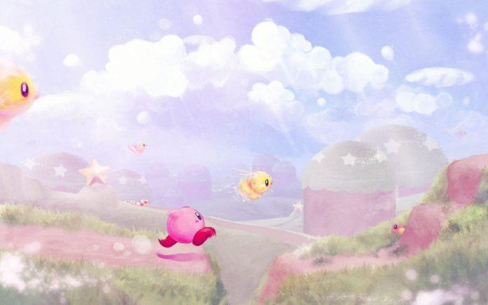 A digital fan art painting of a scene from the Kirby video games by Mikael Aguirre