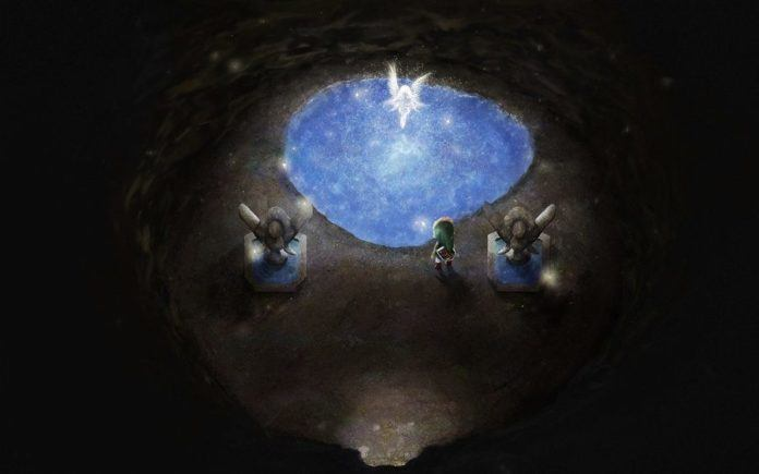 A digital fan art painting of a scene from the Legend of Zelda video games by Mikael Aguirre