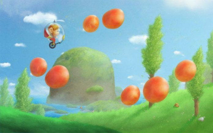 A digital fan art painting of a scene from the old Sega Alex Kidd video games by MIkael Aguirre