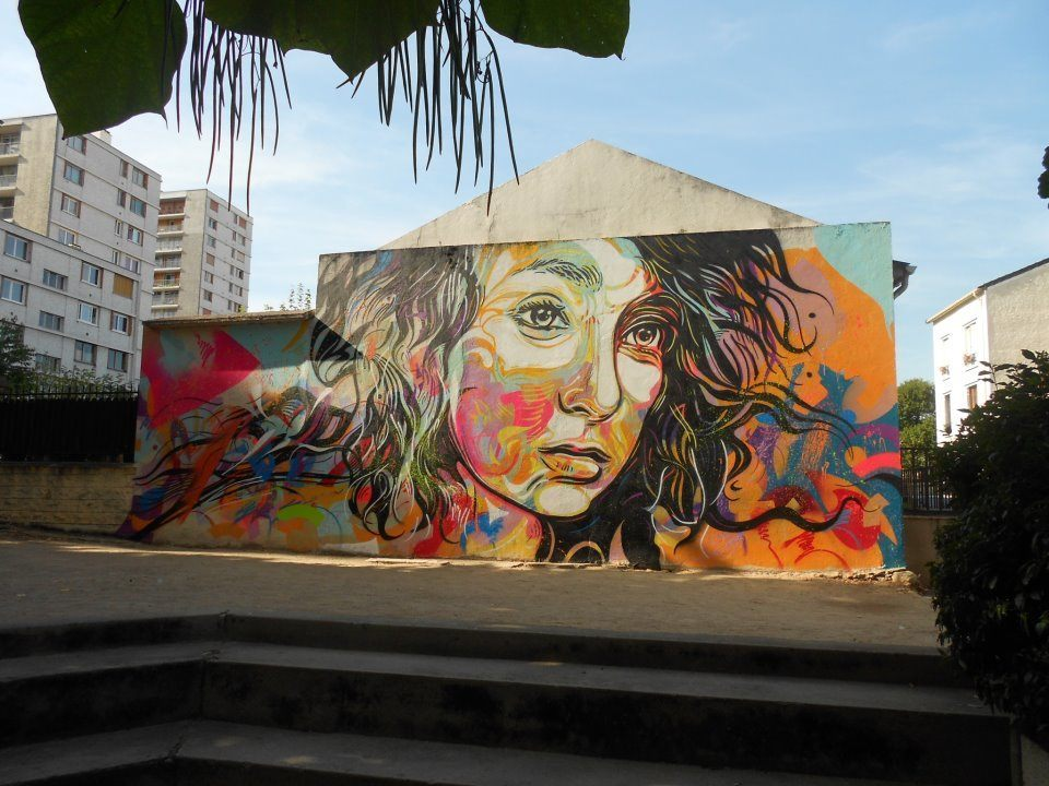 The graffiti of life by c215 art installations mayhem for Airbrush mural painting