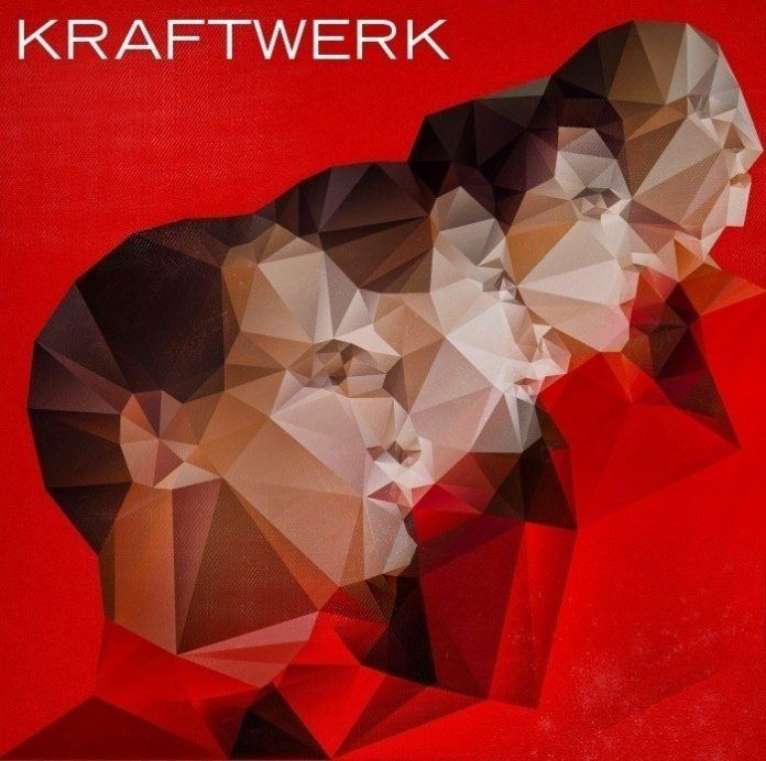 A painted portrait of Kraftwerk by Nicola Felasquez Felaco that combines fine art and graphic design techniques