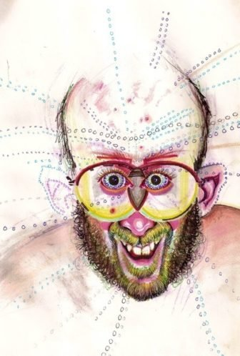 Brian Saunders Draws Portraits of Himself while High on Drugs