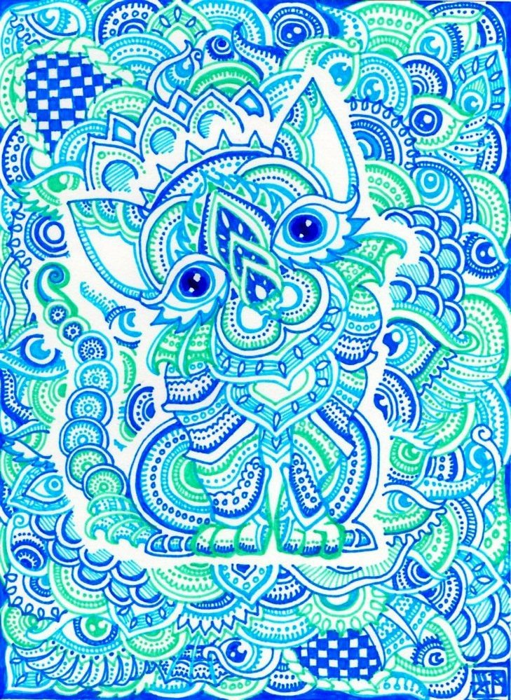A Trippy Psychedelic Drawing By Japanese Artist Lutamesta