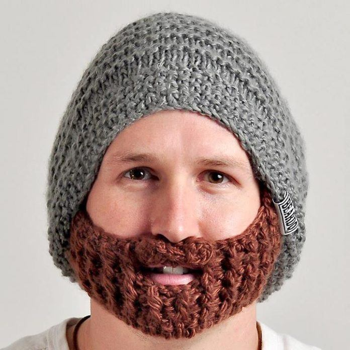 Beanie with a beard designed by Jeff Phillips