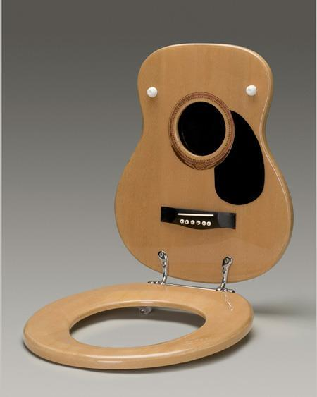 Funny guitar toilet seat cover for musical pooping people