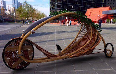 Modern organic bicycle design uses arbosculpture to create the bike frame