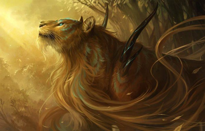 A fantasy lion god designed in photoshop by Sandara
