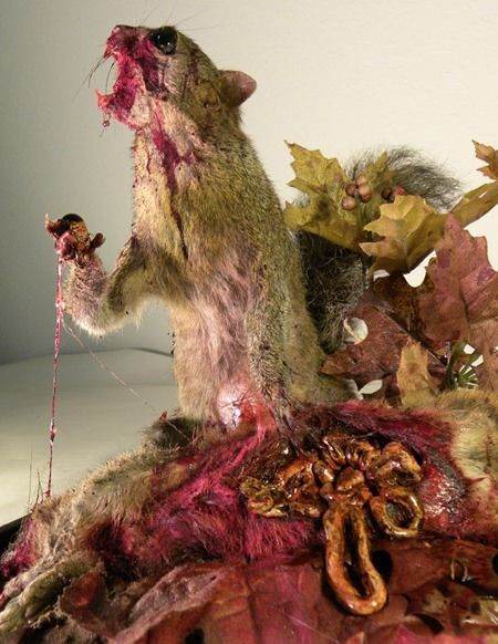 Zombie squirrel will eat your nutty heart