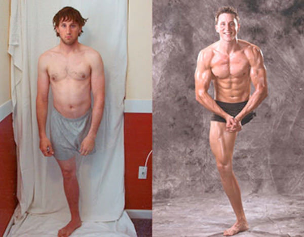 An inspirational picture of an amputee who took up bodybuilding