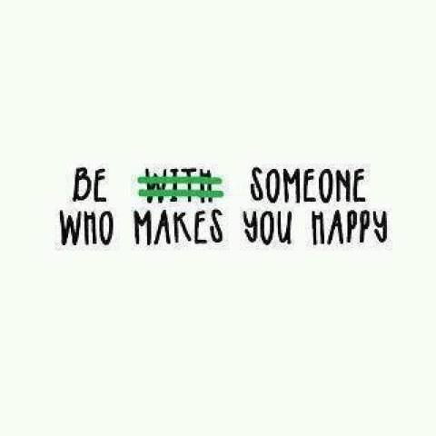 An inspirational picture quote that reads Be someone who makes you happy