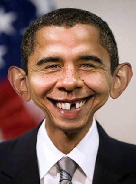 A funny photoshop picture of an obama mad magazing hybrid