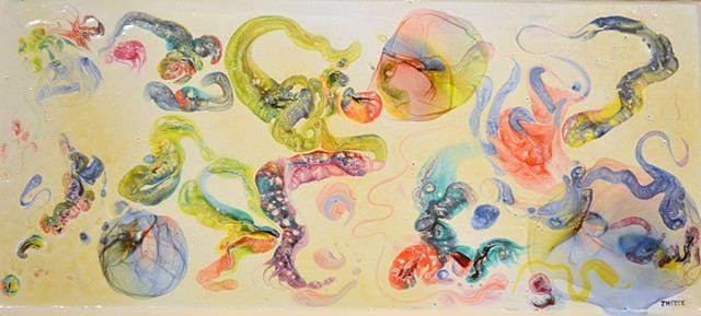 Robert Treece painting called Hippster Fat Cells
