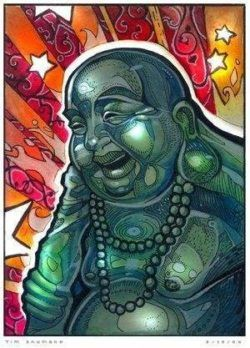 Buddha gets a makeover in this pop art illustration by Tim Shumate