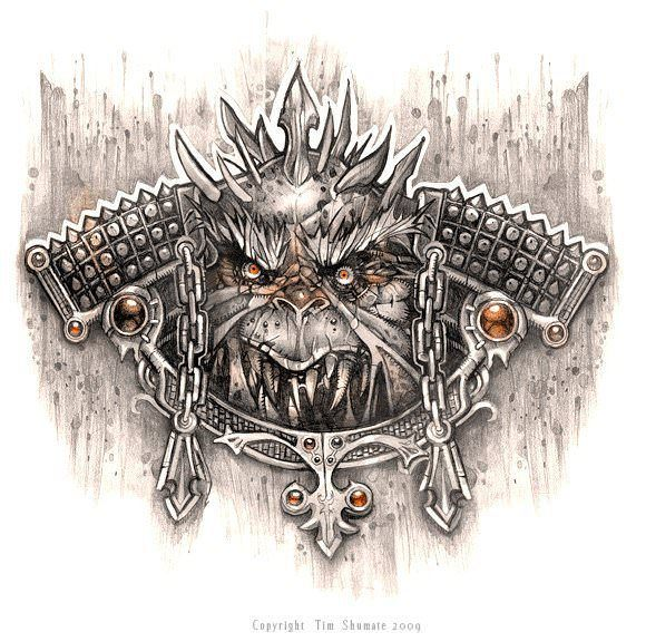 Tim shumate draws a door knocker that will bite your hand off