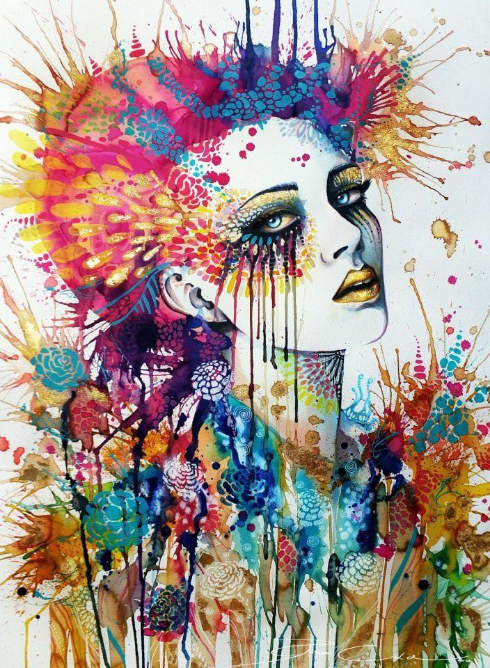 German Artist Svenja Jodicke Combines Splashy Watercolor And Feminine