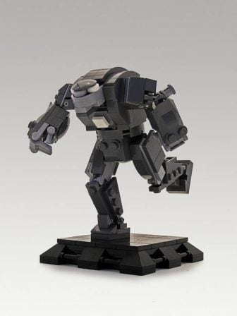 Legohaulic creates a lego brick sculpture of Tony Stark in his armor from Iron Man 3