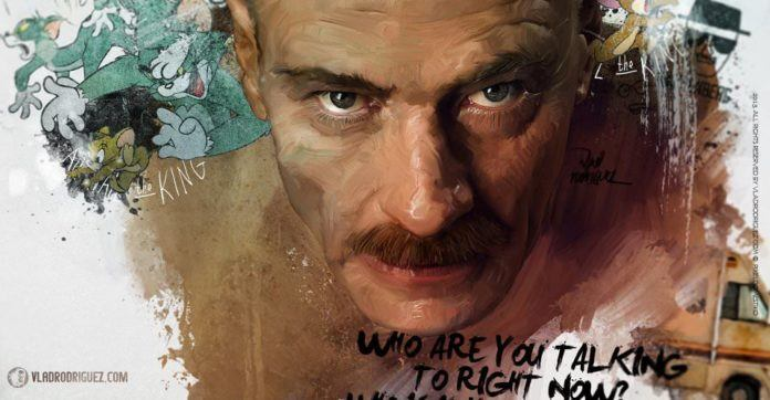 Vlad Rodriguez expresses the gritty reality of the popular TV sreies Breaking Bad in this photoshop fan art painting