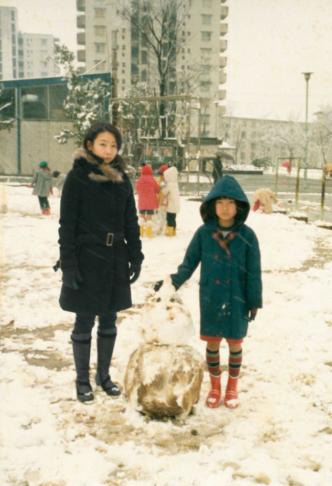 Several decades on, Chino Otsuka still isn't pleased with the snowman she made as a child