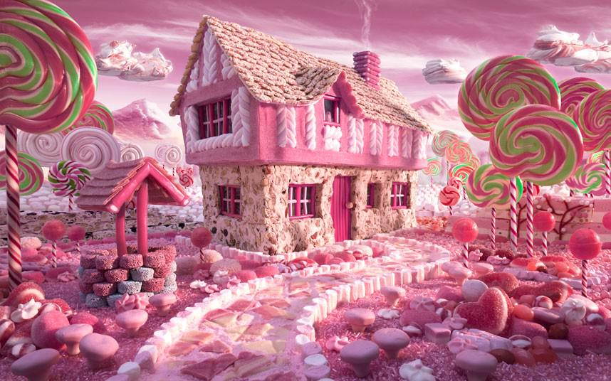 Super sweet and deliciously pink, this candy cottage made out of food by Chris Warner is any little girls fantasy