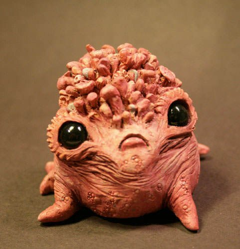 This monster doll by Chris Ryniak is adorable, but is not quite the kind of cuddly pet you would give to a child