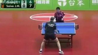 Chuang Saive table-tennis match
