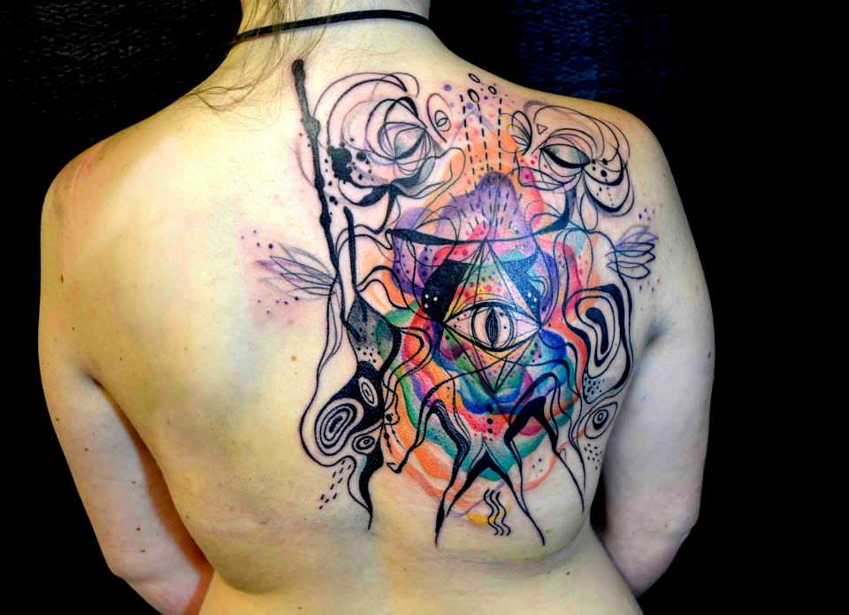 Incredible Artistic Abstract Paintings And Tattoos By Petra