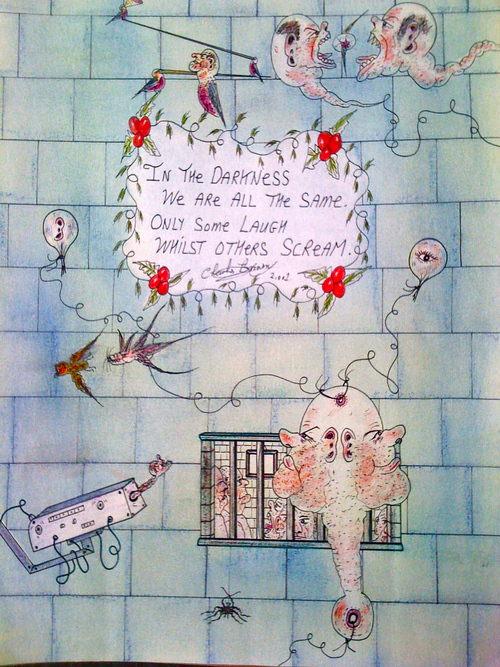 Prisoner Charlie Bronson expresses his inner musings in his unique art style