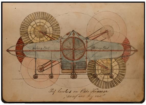 Charles Dellschau designed a number of mechanical flying machines that were never built