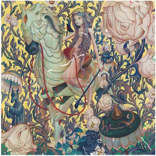 This intricate fantasy painting by James Jean has a highly detailed, psychedelic effect