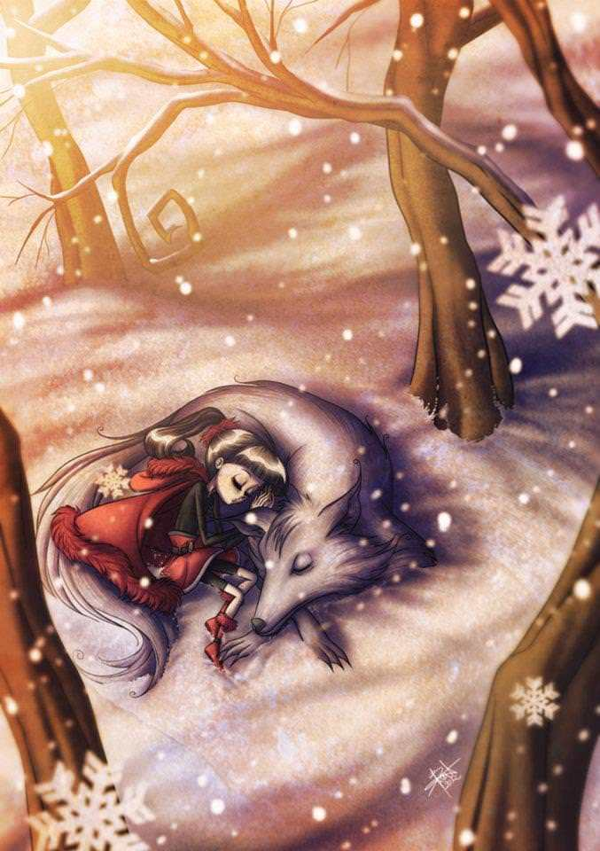 In an unusual twist, illustrator Irureta makes Little Red Riding Hood friends with the Big Bad Wolf