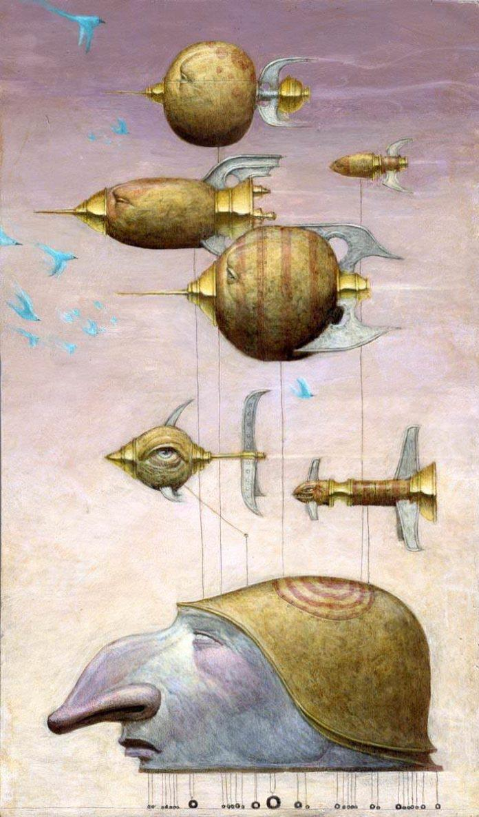 Bill Carman gives us a masterful example of steampunk surrealism in this illustration