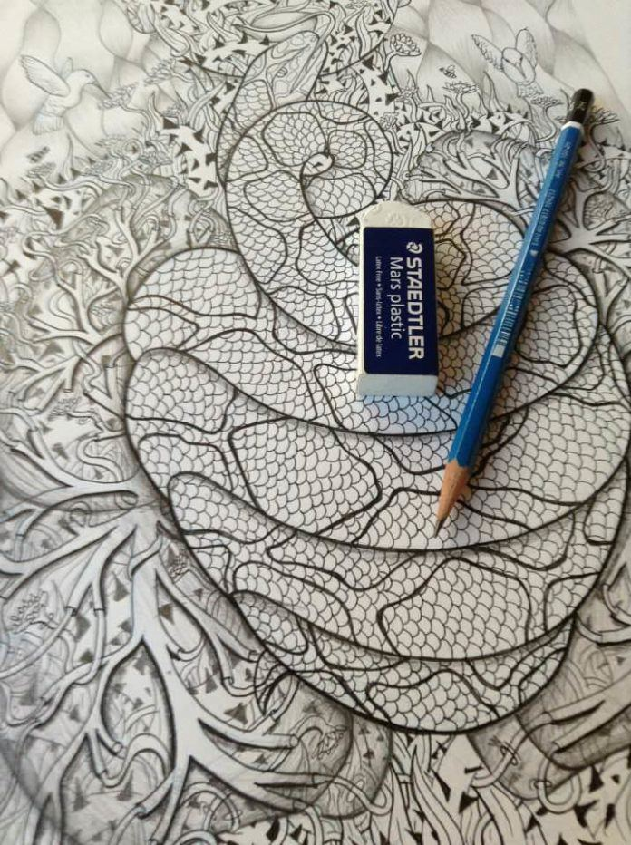 No Photoshop necessary for Jessica Fortner as she shows how perfectly she can draw with pencil on paper