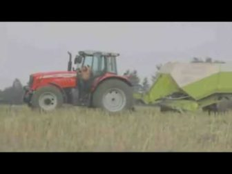Crazy Farmer turns himself into a Walking Hay Bale