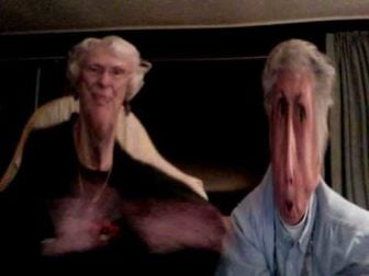 Grandmas discover Photo Booth and have a Funny Photoshoot